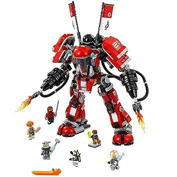 Amazon.com: LEGO Ninjago Movie Fire Mech 70615 Building Kit (944 ...