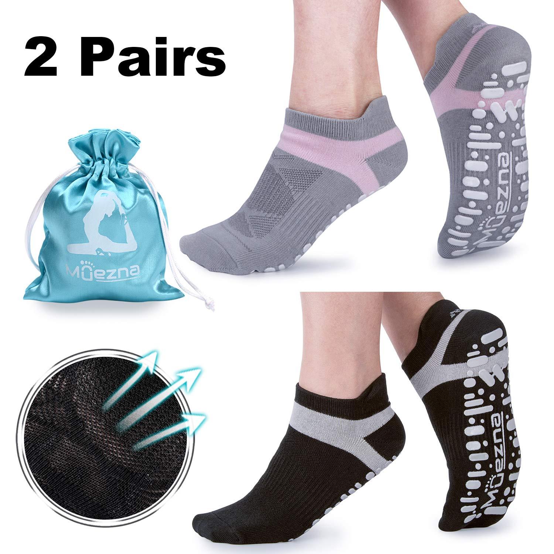 Calcetines Yoga Antideslizante Deporte Mujer silicona gránulos de masaje  con algodón de Pilates Fitness Gimnasio ae2d98dc4f7