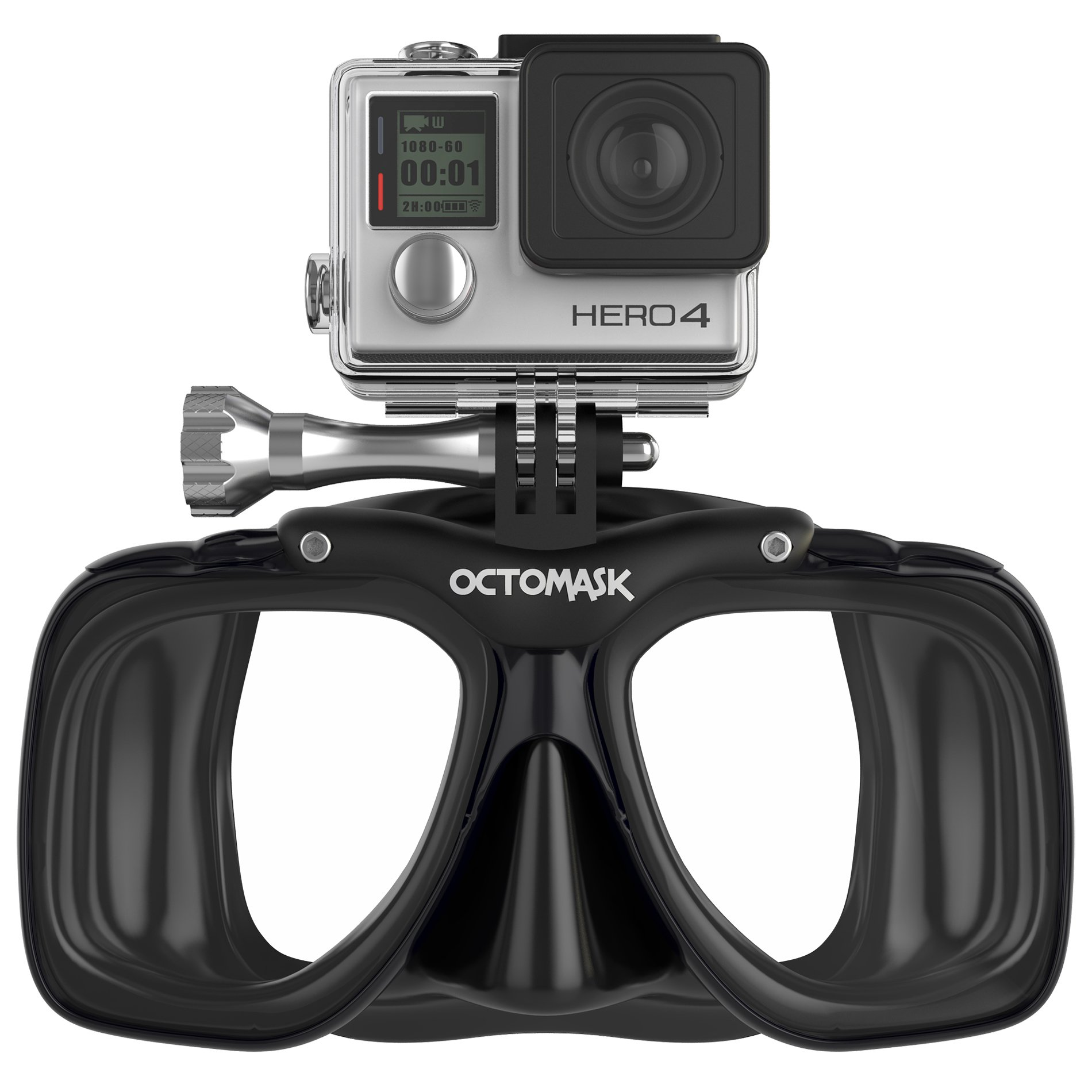 Hero5 and Session Dive Mask for Scuba Diving and Snorkeling compatible with GoPro by OCTOMASK