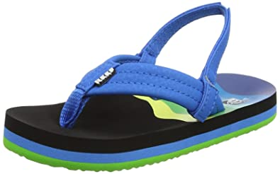 Boys Reef Slippers Blue Textile