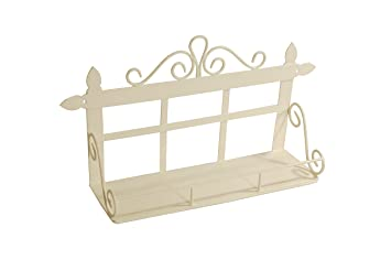 French Kitchen Collection Small Wall Rack with 1 Shelf Ivory by French  Kitchen Collection