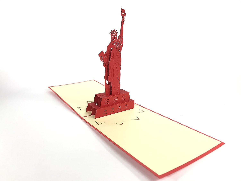 Statute of liberty New York NY Liver building birds 3D Pop Up ...