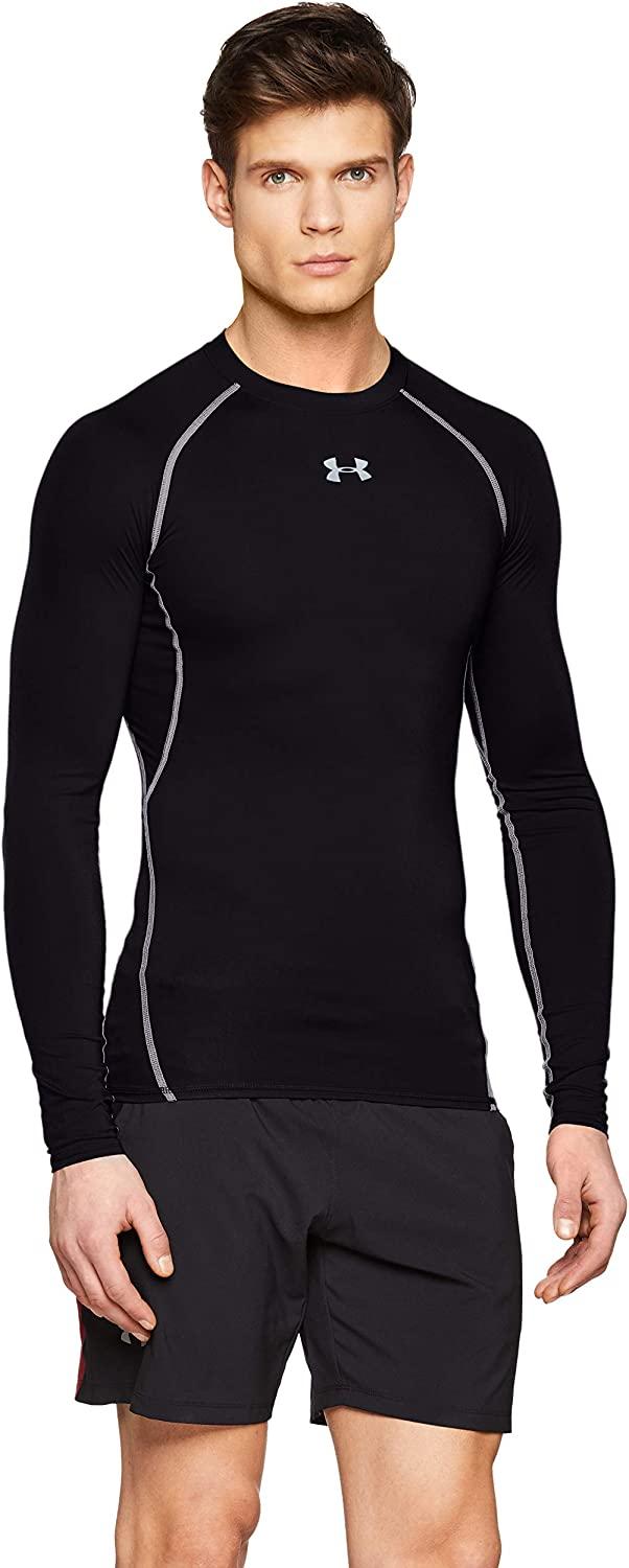 addome Aperto benvenuto  Amazon.com: Under Armour Men's HeatGear Armour Compression Long Sleeve T- Shirt: Clothing