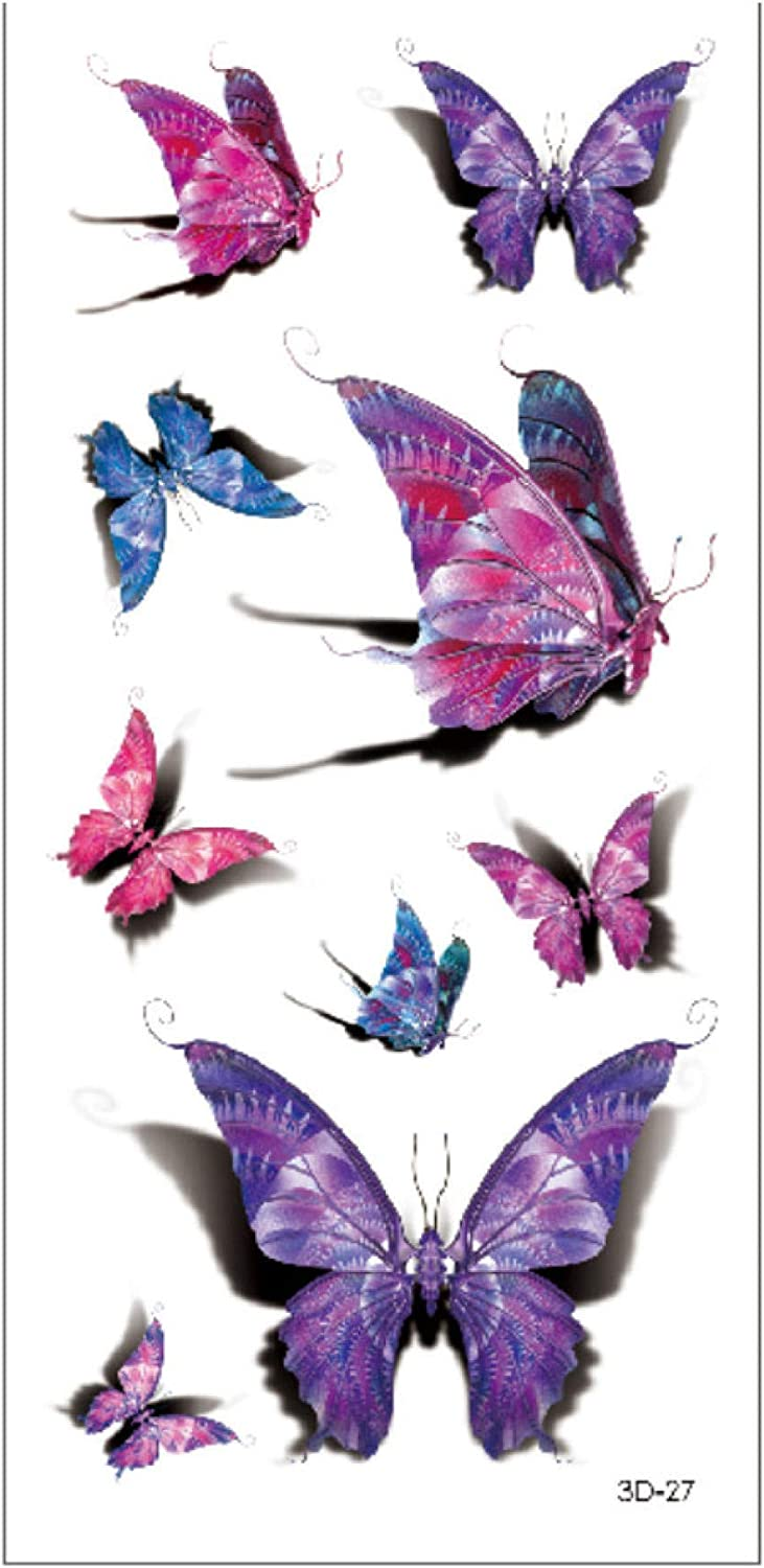 Cute Butterfly Animal Waterproof Temporary Tattoos Body Art Stickers Transfer For Shoulders Chest Back Legs Festival Fashion Art 19x9cm 10pcs Amazon Co Uk Beauty