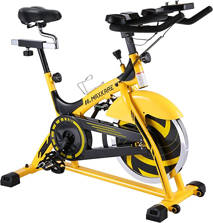 MaxKare Stationary Bike Belt Drive Indoor Cycling Bike