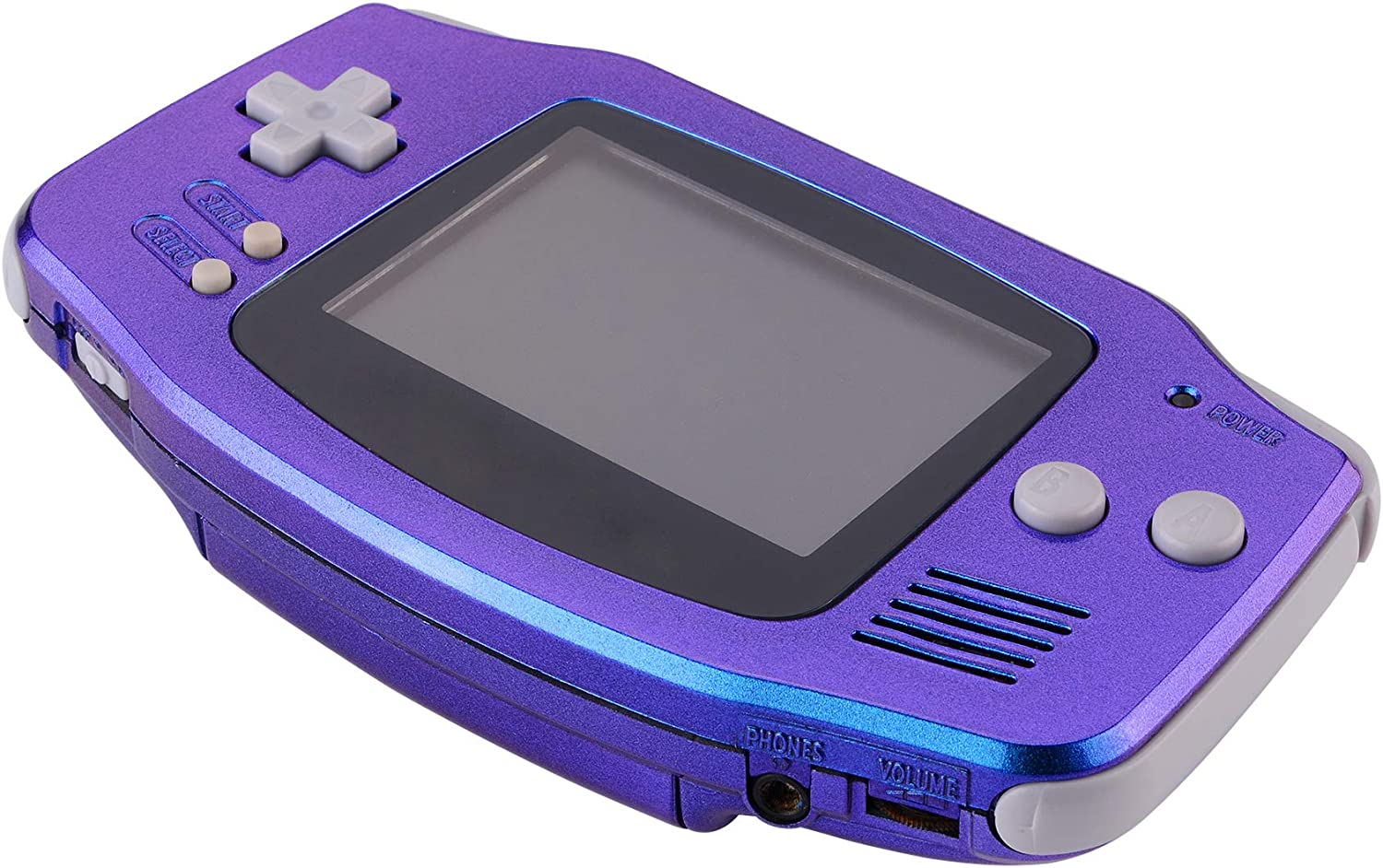 eXtremeRate Chameleon Purple Blue GBA Replacement Full Housing Shell Cover w/Buttons Screws Screwdriver Tools Set for Gameboy Advance - Handheld Game Console NOT Included: Computers & Accessories