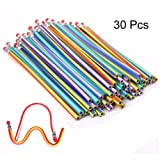 30Pcs Soft Flexible Bendy Pencils Children School Fun Equipment For Party
