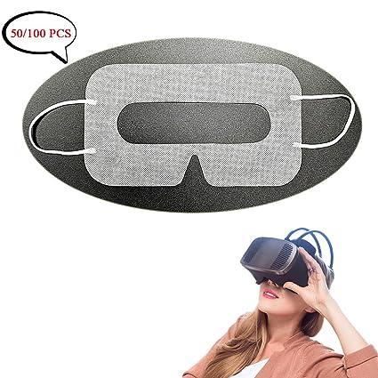 Amazon.com: Universal desechable VR máscara cubierta 50/100 ...