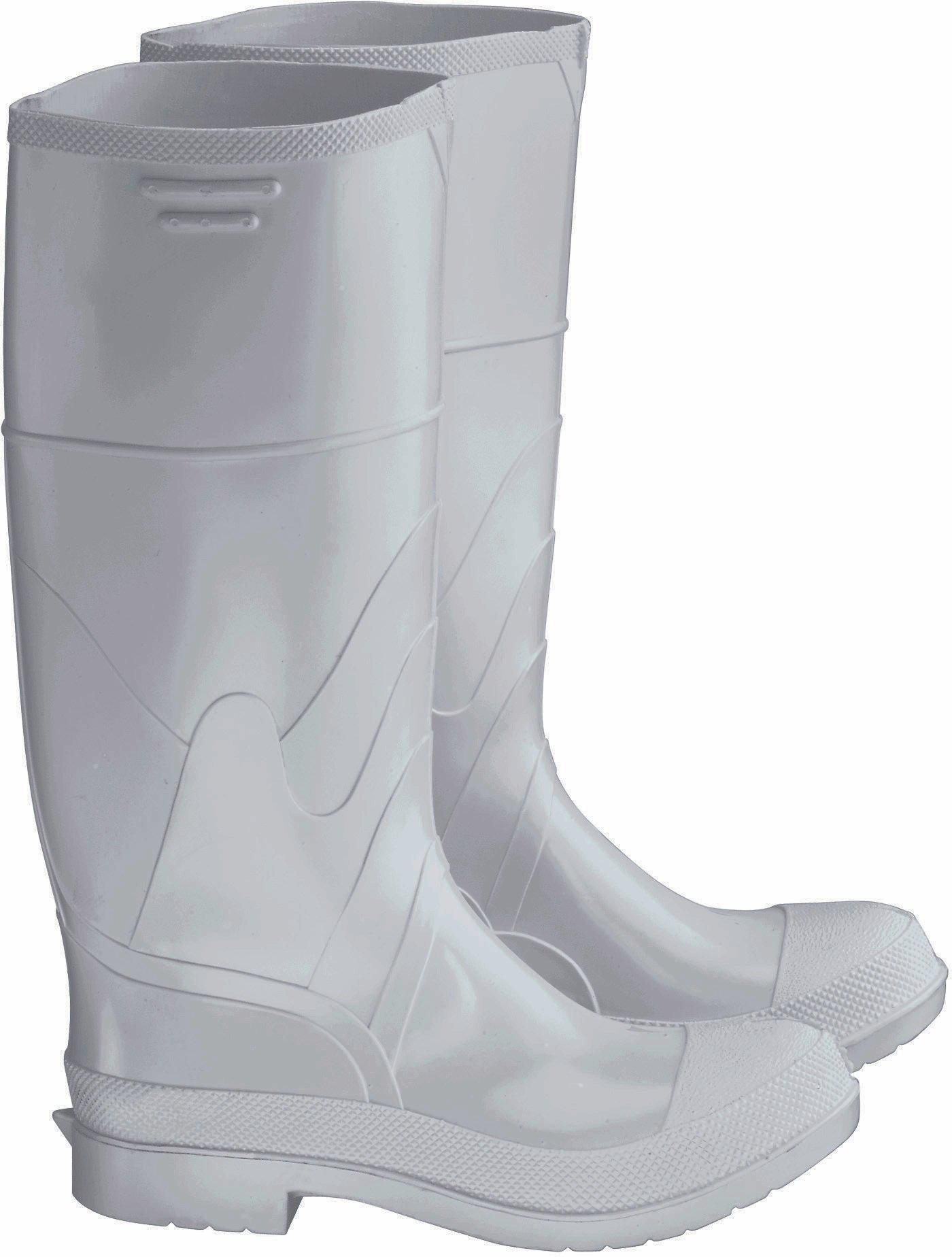 ONGUARD 81011 PVC Men's Plain Toe Knee Boots with Safety-Lok Outsole, 16'' Height, White, Size 8
