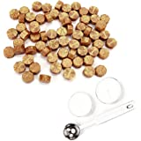 Yoption 120 Pieces Octagon Sealing Wax Sticks Beads with Candle Melting Spoon for Wax Seal Stamp (Gold)