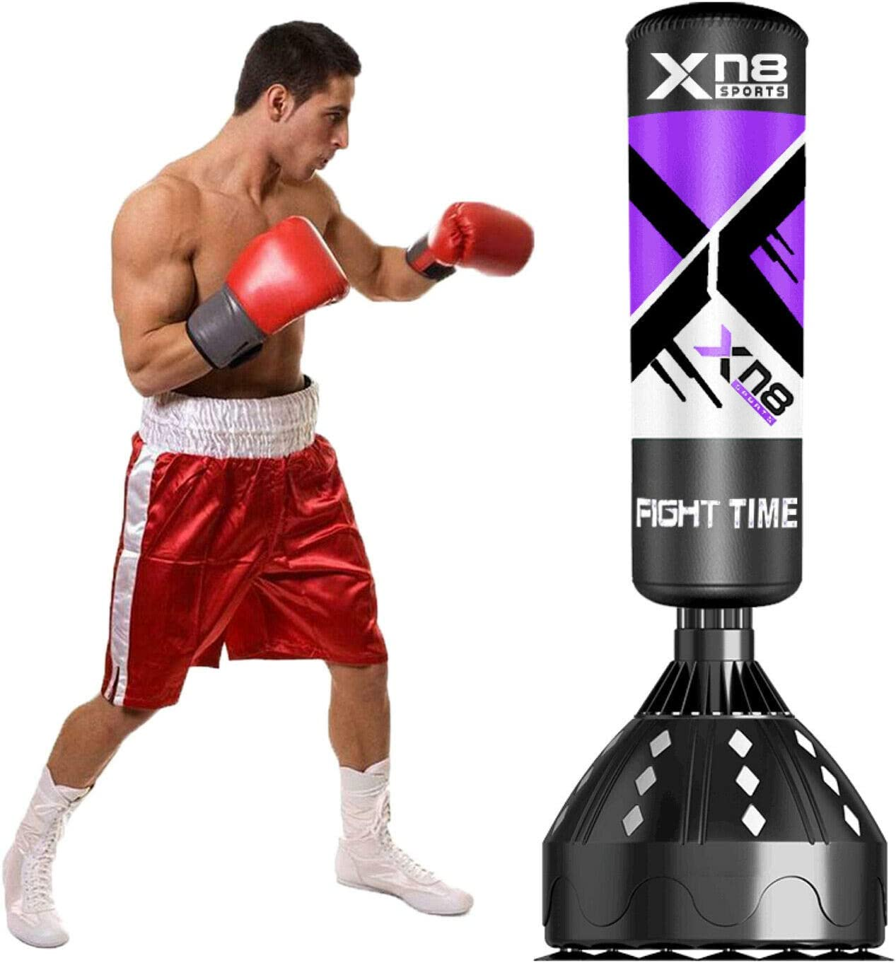 boxe thai MMA arts martiaux Sac de frappe sur pied 1,7 m pour boxe kick boxing