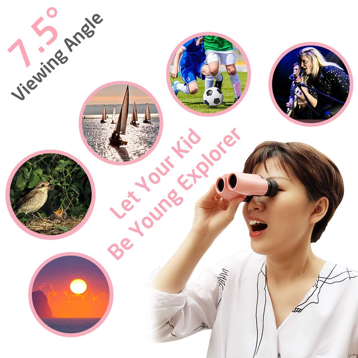 Prism/áticos Binoculares 10 Veces 10 /× 22 Binoculares para Conciertos Ligeros Alta Resoluci/ón para Damas Enfoque Central de Alto Desempe/ño en Teatro en Vivo Estuche de Almacenamiento Rosado