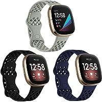 Hoopyeecase Kompatybilny z Fitbit Versa 3 Strap/Fitbit Sense Strap, Miękki Silikon Sport pasek od zegarka Zastąpienie…