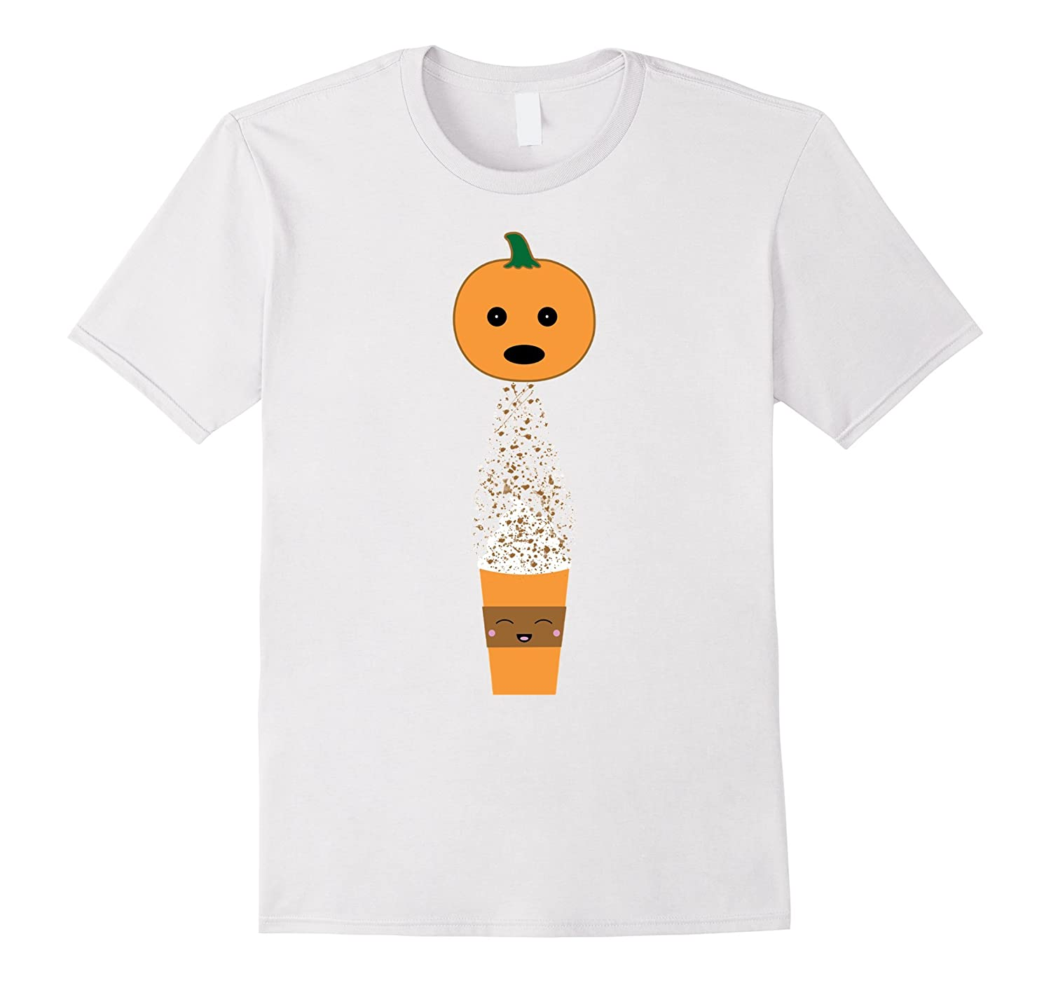 6a1adaef Pumpkin Pooping Spice Latte Funny Halloween & Fall T-Shirt-CL – Colamaga