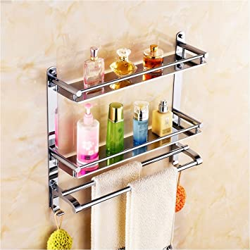 Amazon.com: Shower room, shelf, wall hanging, stainless steel ...