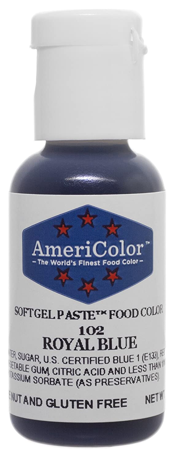 Amazon.com: Americolor Soft Gel Paste Food Color, Royal Blue ...