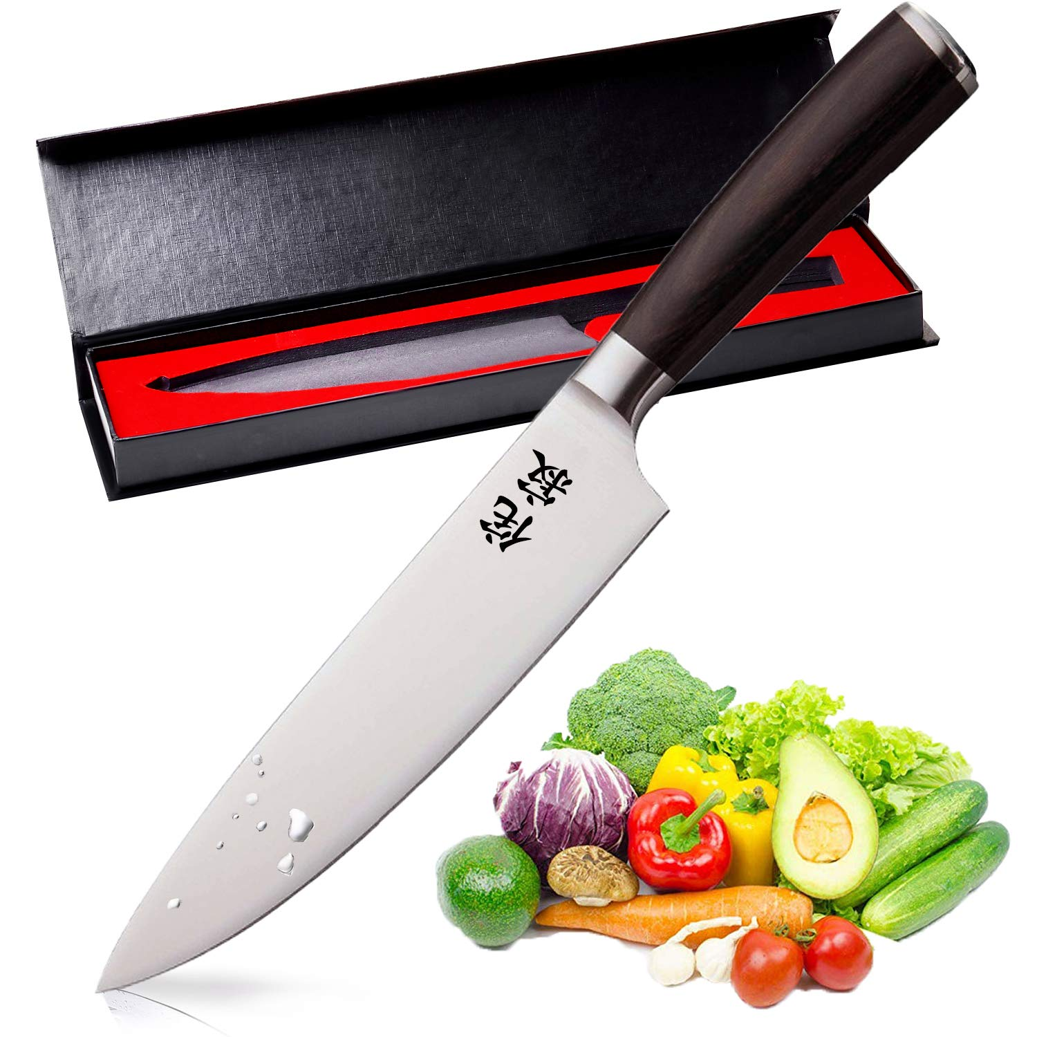 WABI×SABI Pro Kitchen 8 Inch Chef's Knife High Carbon Stainless Steel Sharp Gyutou Knives Japan Quality