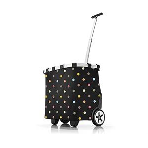 Reisenthel carrycruiser Sac à cordon, 47 cm, 40 liters, Noir (Dots)