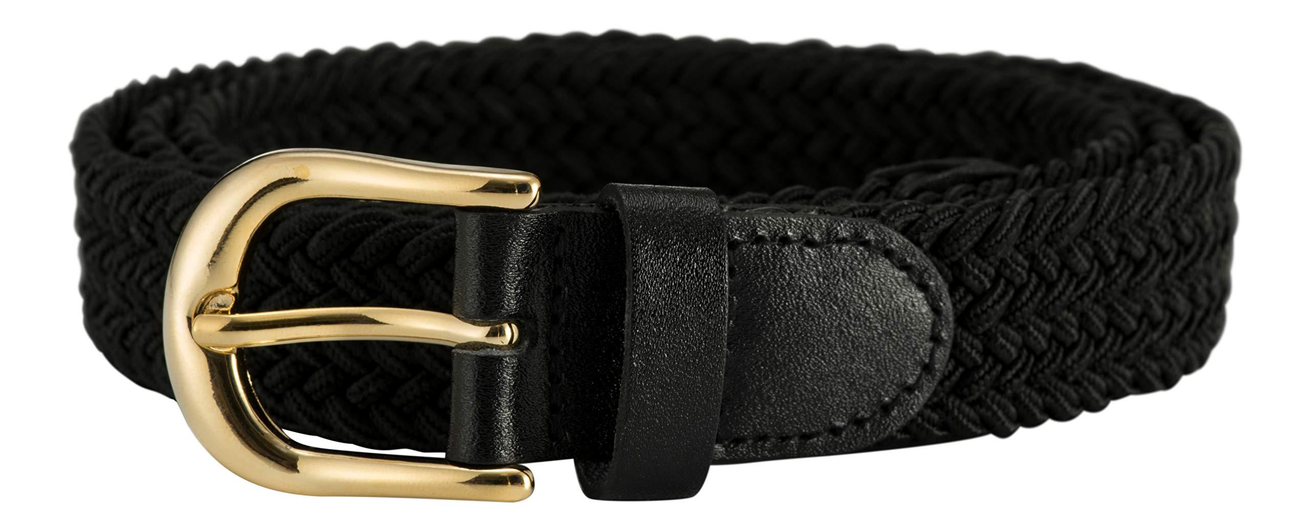 Streeze ceinture élastique pour femmes. 5 tailles. Extensible et tressée.  25 mm de largeur avec boucle en or de tailles XS-XL bb6232deb35