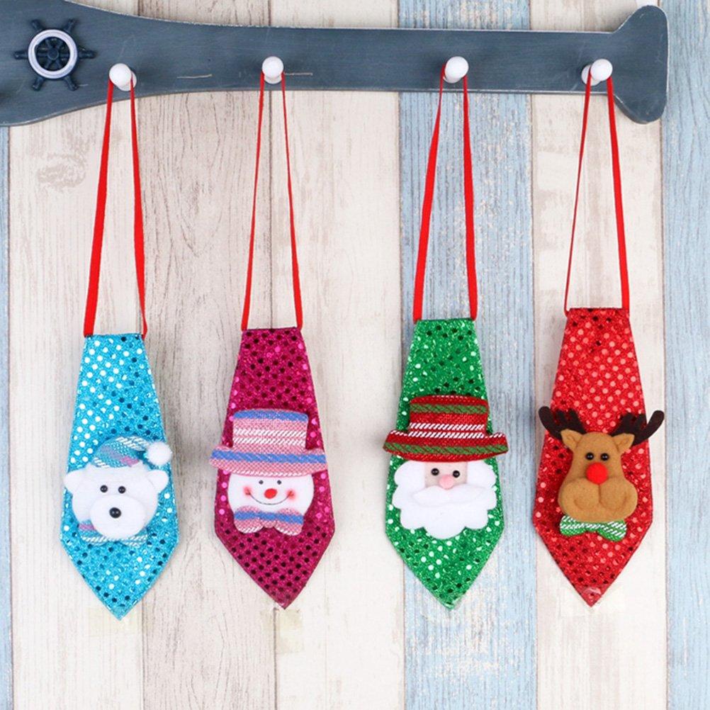 OULII Kinder Krawatte f/ür Weihnachten Party Kost/üm Zubeh/ör Elch