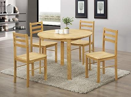 HGG - molde redondo para mesa de comedor con 4 sillas - mesa ...