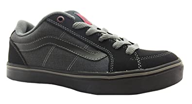 dca727f17aba3c Size 6.5 Men s Transistor Vans Black red Lace Up Skate Shoes  Amazon ...