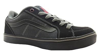 58d44d0dfb Size 6.5 Men s Transistor Vans Black red Lace Up Skate Shoes  Amazon ...