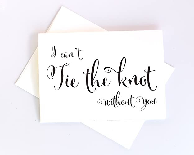 amazon com 8 ct i can t tie the knot without you wedding day cards