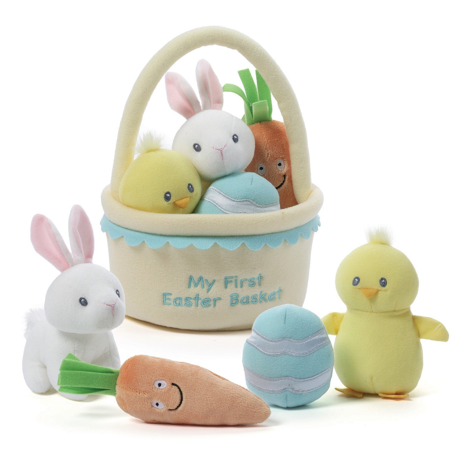 Amazon gund baby my first easter basket playset stuffed plush amazon gund baby my first easter basket playset stuffed plush 5 pieces toys games negle Choice Image