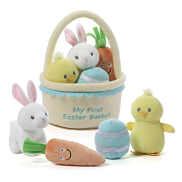 Amazon baby gund my first easter basket playset stuffed plush baby gund my first easter basket playset stuffed plush 5 pieces negle Gallery