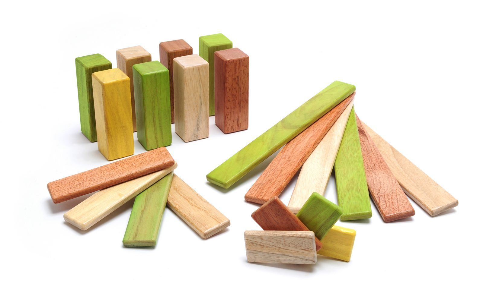 22 Piece Tegu Endeavor Magnetic Wooden Block Set, Jungle