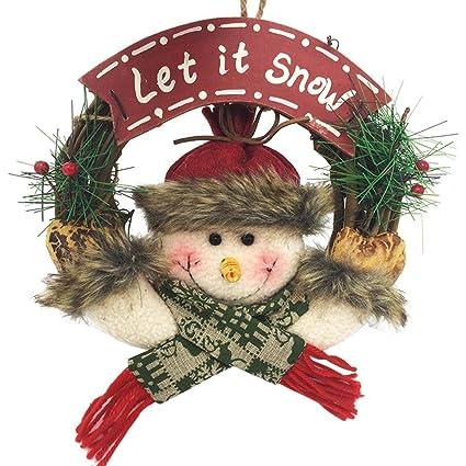 garland christmas decor inkach merry christmas hanging wreath ornament door wall garlands decorations b