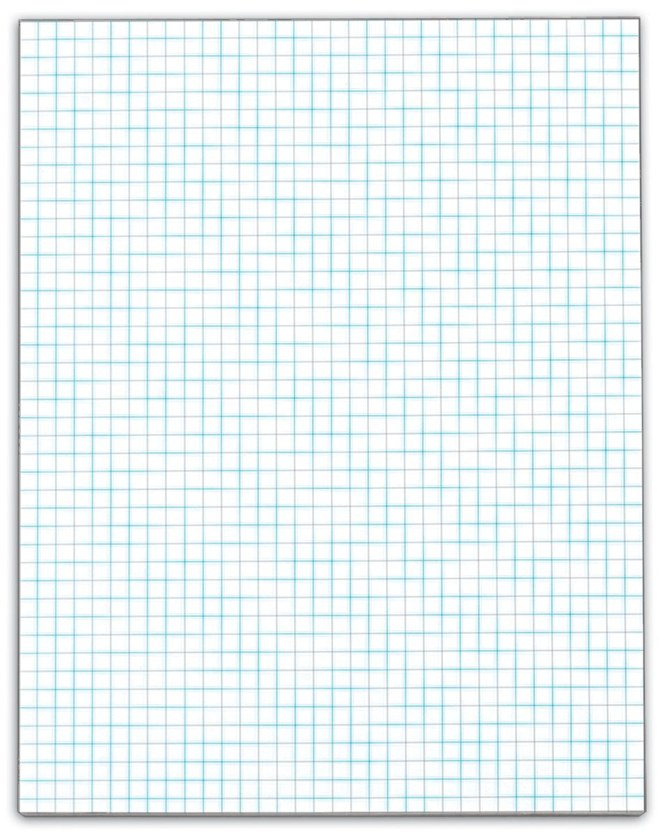 TOPS 8.5 x 11 Inches 4 Squares/Inch Premium Stock 50 Sheets/Pad Quadrille Pad, Carton of 72 Pads, White (33041)