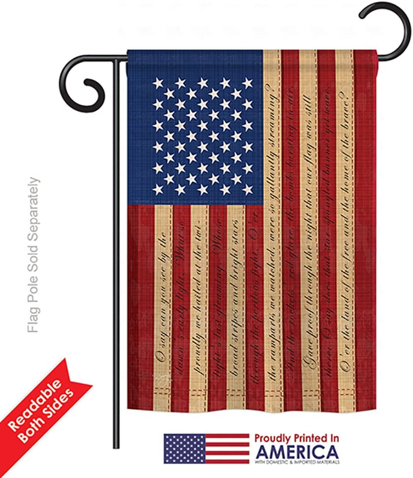 Amazon Com Breeze Decor G161050 Star Spangled Banner Americana Patriotic Impressions Decorative Vertical Garden Flag 13 X 18 5 Printed In Usa Multi Color Outdoor Flags Garden Outdoor