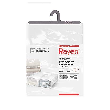 Rayen - Caja de almacenaje de ropa y mantas de cama. Bolsa de tela para ropa con cremallera, rejilla transpirable, plegable y resistente. 55 x 65 x 20 ...