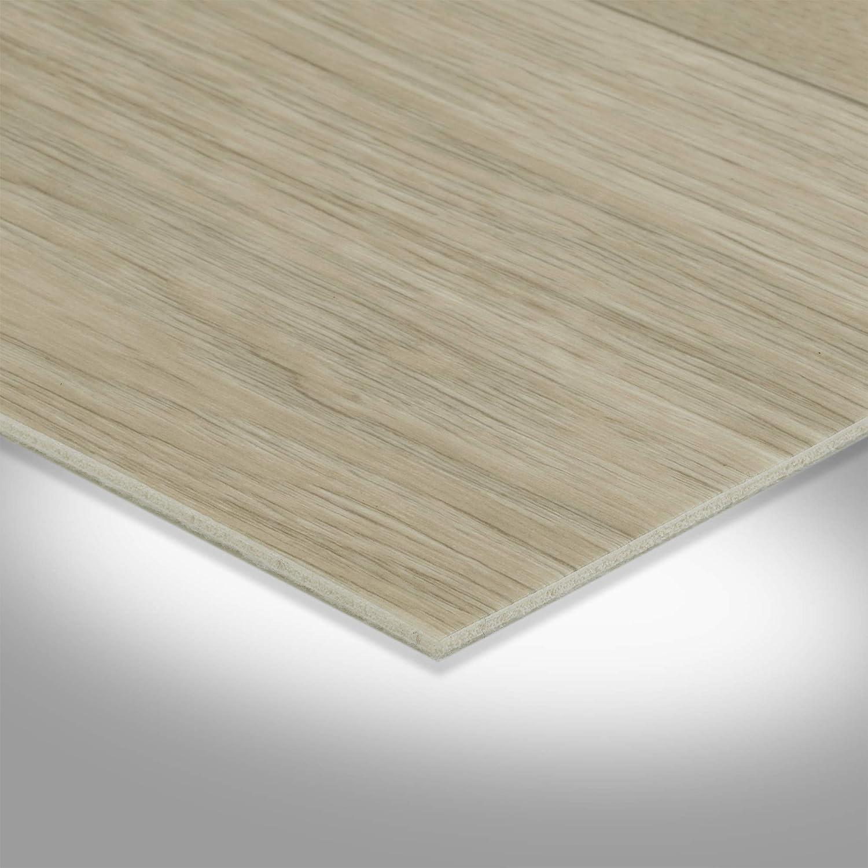 300 BODENMEISTER BM72619 Vinylboden PVC Bodenbelag Meterware 200 400 cm breit Holzoptik Diele Eiche hell creme wei/ß