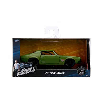 Jada Dom's 1973 Chevrolet Camaro F-Bomb Green Fast & Furious Movie 1/32 Diecast Model Car: Toys & Games