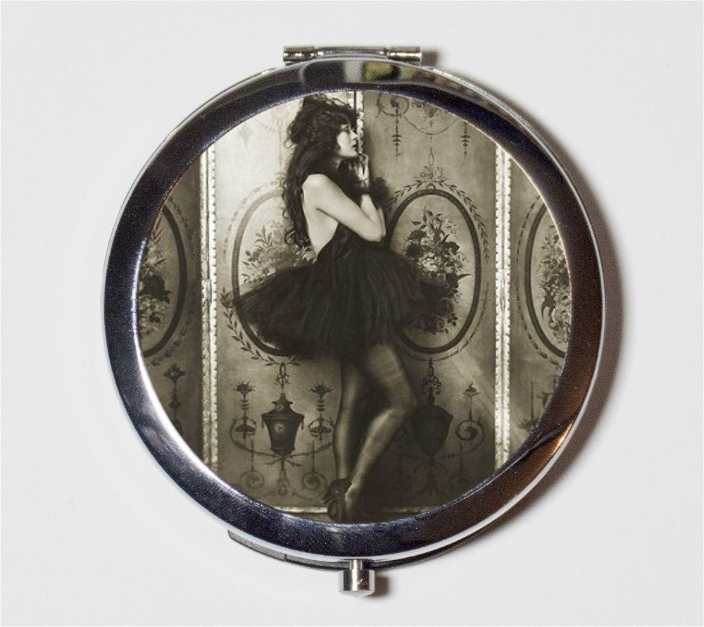Amazon com: Art Deco Flapper Follies Compact Mirror 1920's Jazz Age