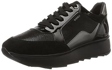 Geox Airell C, Sneakers Basses Femme, Noir (Black), 38 EU