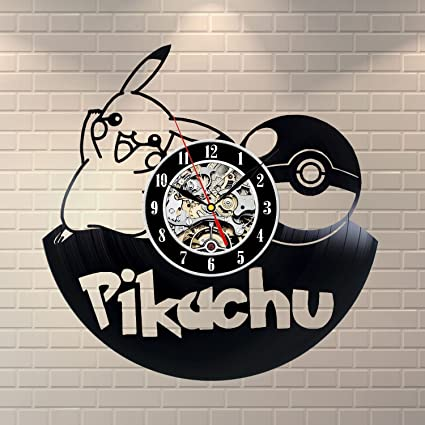 ceb610c2e Amazon.com: Pikachu Vinyl Record Wall Clock - Decorate your home ...