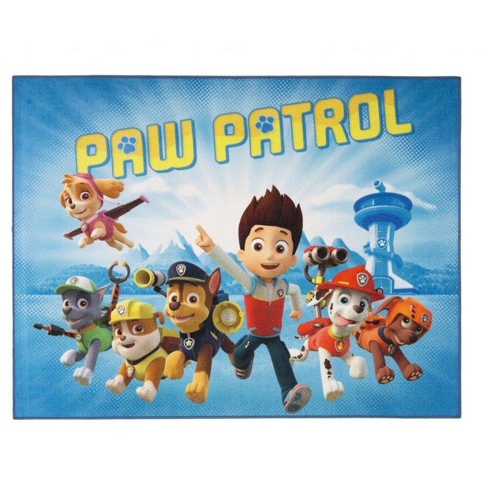 Tappeto bambino la paw patrol 125 x 95 cm Disney 03 alta qualità GUIZMAX