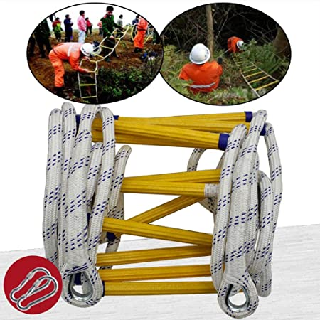 MAHFEI Escalera De Cuerda, Resistente Al Fuego Escaleras De Evacuación con Ganchos Escalera De Evacuación Escalera De Incendios Antideslizante Rápido for Implementar Reutilizable Alpinismo: Amazon.es: Hogar