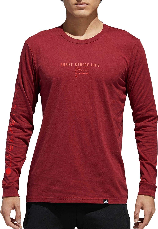adidas Men's Athletics 3 Stripe Life Long sleeve Tee