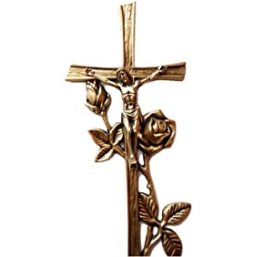 """Wall Cross For Home 15"""" Large Brass Art Religious Décor Catholic Crucifix Jesus Christ Gift"""