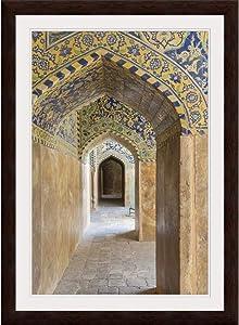 "GREATBIGCANVAS Iran, Central Iran, Esfahan, Espresso Framed Wall Art Print, Home Decor, 24""x36""x.75"