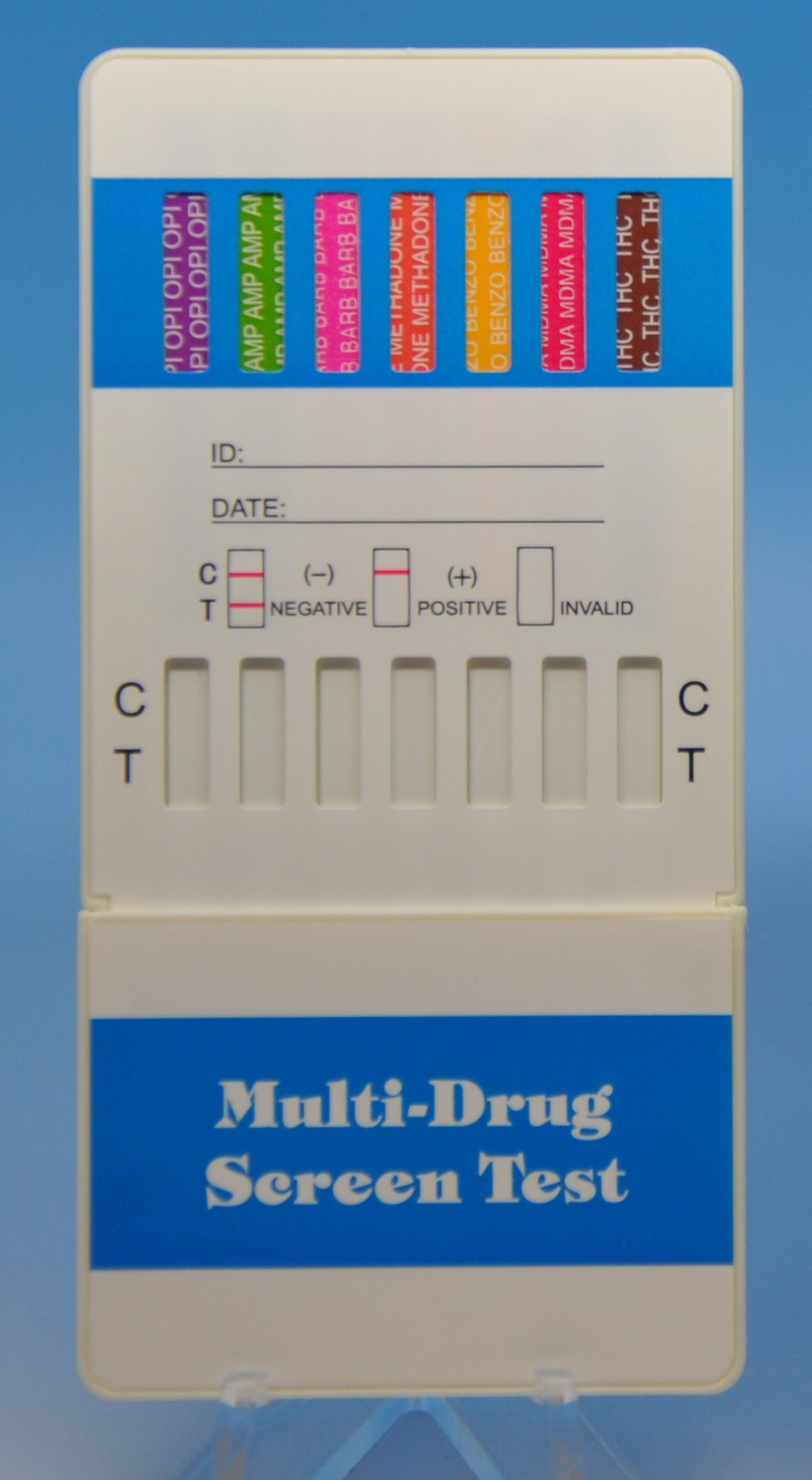 12 Panel Dip Card Test Kit, Pack Of 10 Units, FDA Cleared, CLIA Waived and OTC approved