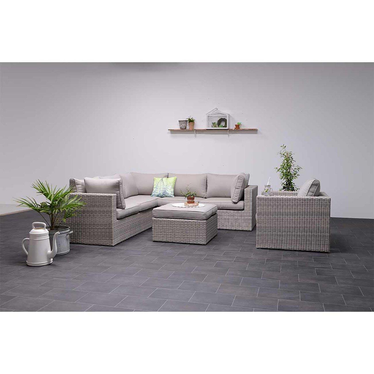 outliv orangebird lounge 5 teilig geflecht shadow grey. Black Bedroom Furniture Sets. Home Design Ideas