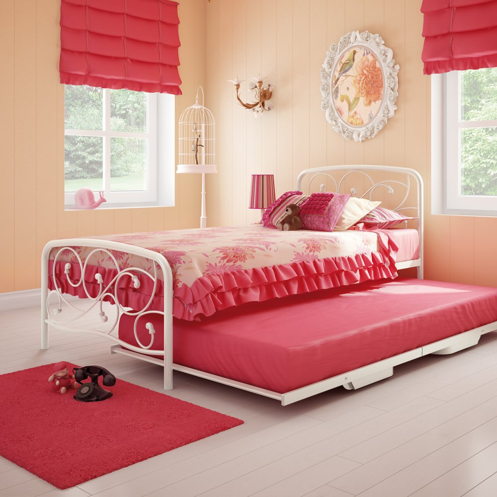 Amazon.com: Amisco Trundle Metal Bed, Twin Size 39\