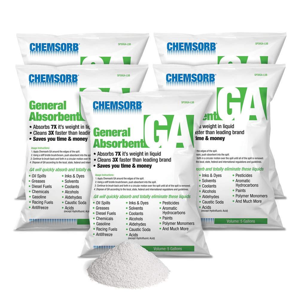 CHEMSORB GA - GENERAL ABSORBENT - 5 Gallon Bag, 5 Pack