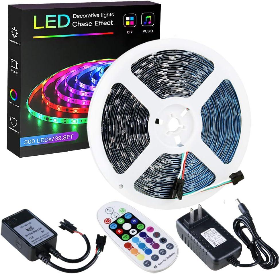 Flexible RGB LED Light Strip 5050 SMD String Lamp Music Control RF Controller